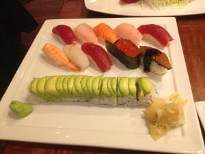 deluxe sushi platter at chez kama