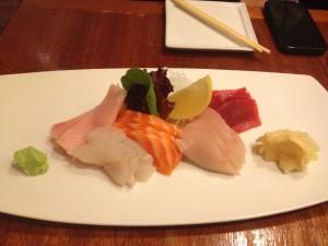 sashimi platter at chez kama