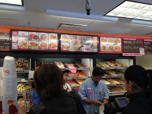 crowd at dunkin donuts