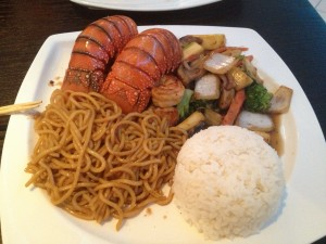 twin lobster tail hibachi