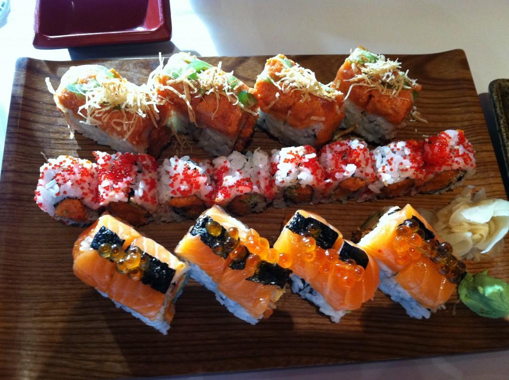 sushi at matsuya