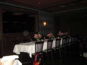 table set up inside