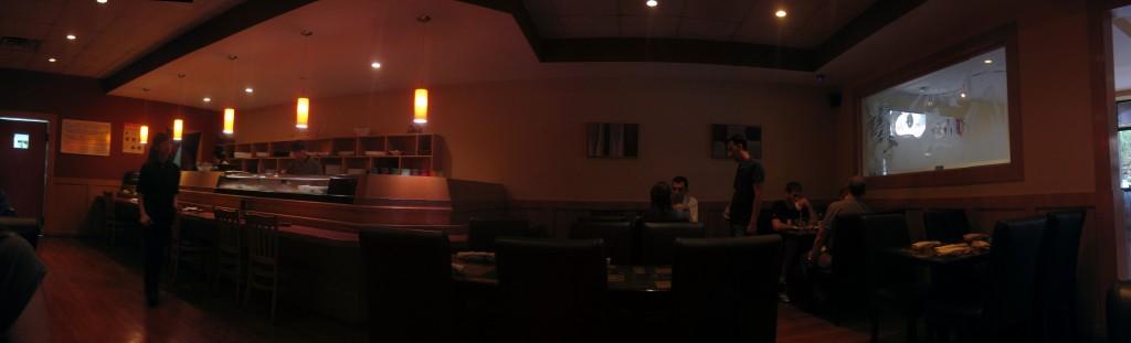 inside hinata restaurant in great neck