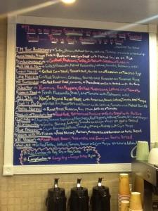 sandwich chalkboard