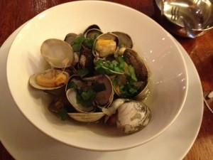 clams at chez kama