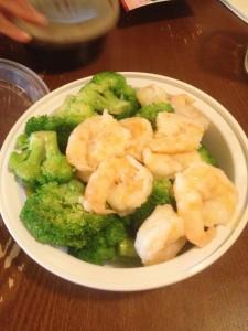 shrimp and broccoli steamed