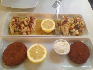 appetizers at turquoise