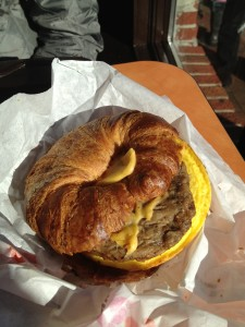 dunking donuts sausage croissant